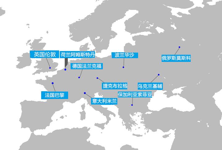 欧洲节点示意图